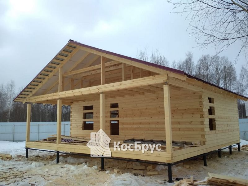 Дом из проф.бруса, Волоколамск, Лотошинский район, д.Хилово
