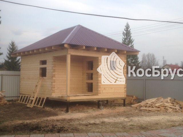 Дом из проф. бруса, Тульская обл. п. Заокский, сентябрь 2017 года